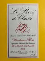 9705 - Le Rosé De Clarke 1983Baron Edmond De Rothschild - Bordeaux