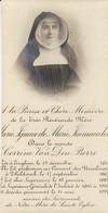 """Enghien """" 1843 - Marie Ignace Marie Immaculée -,Corinne Van Den Borre - Révérende Mère à Thildonck -,décédé 1921 - Images Religieuses"""