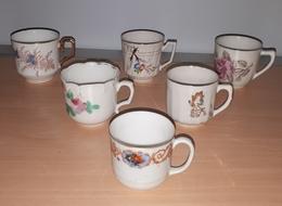 Lot De 6 Tasses En Porcelaine, Toutes Différentes. (Collection) - Non Classés