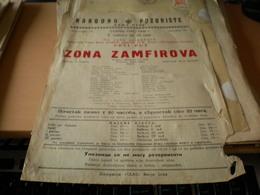 Old Poster Plakat Theater Banja Luka Narodno Pozoriste  Zona Zamfirova  1947 - Affiches