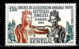 SÉNÉGAL Aer41** 150f Vert-bleu, Sépia Et Orange Congrès De La Fédération Mondiale De Villes Jumelées à Dakar - Sénégal (1960-...)