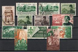 EGITTO:  1936/52  VARI  -  INSIEME  12  VAL. US. -  YV/TELL. 179//310 - Egypt