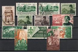 EGITTO:  1936/52  VARI  -  INSIEME  12  VAL. US. -  YV/TELL. 179//310 - Egitto