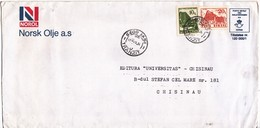 1993 , Roumanie To Moldova , Definitive , Postal History , Used Cover - 1948-.... Republics