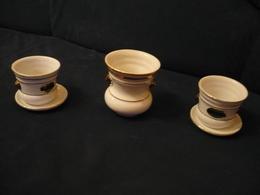 2x Org. Friesische Übertöpfe Mit Teller Und 1x Passende Vase Von Seltmann Weiden (743BW) - Porzellan & Keramik