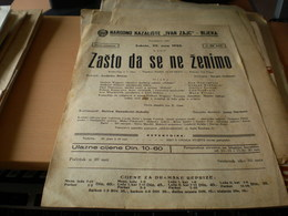 Old Poster Plakat Theater Rijeka Narodno Kazaliste Zasto Da Se Ne Zenimo 1955 - Affiches