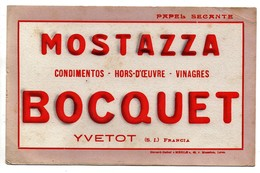 Buvard Relief Merle Mostazza Bocquet Yvetot - Alimentaire
