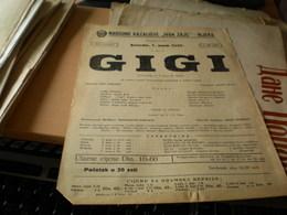 Old Poster Plakat Theater Rijeka Narodno Gigi 1955 - Affiches