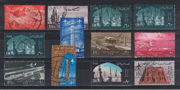 EGITTO:  1950/64  P.A.  ORDINARIA  -  INSIEME  12  VAL. US. -  YV/TELL. 81//94 - Luchtpost