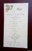 MenU - Déjeuner Du 29 Octobre 1930 - Menus