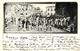 Thematiques Italie Sassari Entrata Di Angioj Sassari Scutti Timbre Cachet Montcenis Macon 30 Janv 1899 - Sassari