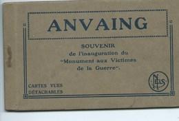 Anvaing - Souvenir De L'Inauguration Du Monument Aux Victimes De La Guerre  ( Carnet De 10 Vues ) - Frasnes-lez-Anvaing