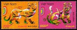 Vietnam - 2009 - Lunar New Year Of The Tiger - Mint Stamp Set - Vietnam