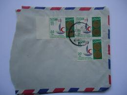SUDAN   COVER HALF 1963   WITH POSTMARK POSTED  GREECE ATHENS HALADRION - Soudan (1954-...)