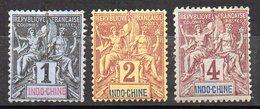 Col11    Indochine N° 3 à 5 Neuf X MH Et Sans Gomme  : 5,10 Euros - Indochine (1889-1945)