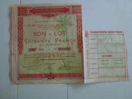 Action  Exposition Coloniale Internationale Paris 1931 - Shareholdings