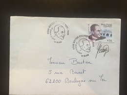 Premier Jour 2017 Père Victor Dillard Blois Signature Beaujard - Poststempel (Briefe)