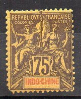 Col11    Indochine N° 14 Neuf X MH  : 26,00 Euros - Indochine (1889-1945)