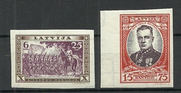 LETTLAND Latvia 1932 Michel 198 B + 202 B MNH - Lettonie