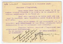 Gele Kaart Association Vinçotte 1926  Naar Mons - Sin Clasificación