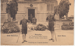Bruxelles - La Tombe Du Soldat Inconnu - Souvenir De Deux Scouts Danois - Phototypie, Bruxelles - Monuments, édifices
