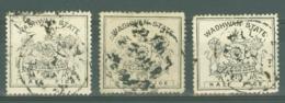 India - Wadhwan: 1888/94   State Shield   SG4/5/6   ½pice   [Perf: 12]   Used - Wadhwan