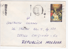 1993 , Roumanie To Moldova , Christmas , Used Cover - 1948-.... Republics