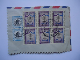 SUDAN   COVER HALF 1962   WITH POSTMARK POSTED  GREECE ATHENS HALANDRION - Sudan (1954-...)