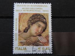 *ITALIA* USATI 2003 - DUCCIO DI BUONINSEGNA - SASSONE 2711 - LUSSO/FIOR DI STAMPA - 6. 1946-.. Repubblica