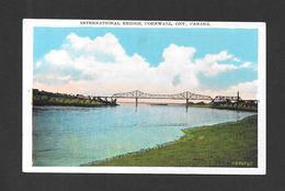 CORNWALL - ONTARIO - INTERNATIONAL BRIDGE - PONT - PAR VALENTINE BLACK - Ontario