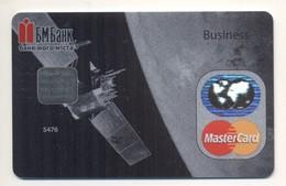Credit Card SPECIMEN Bankcard BM Bank UKRAINE MasterCard Space Satellite Spaceship - Cartes De Crédit (expiration Min. 10 Ans)