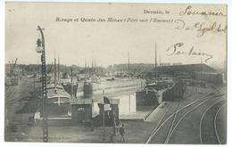 CPA Valenciennes Quai Des Mines Port De L'Escaut Péniches Et Trains - Valenciennes