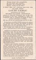 Halluin, Tielt, 1943, Louis Carlu, Herman - Imágenes Religiosas