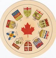 Circular Postcard , Provinces Of Canada - Non Classés