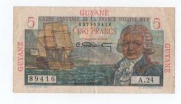 (a145) Billet De Banque De Guyane Bougainville 5 Francs - France