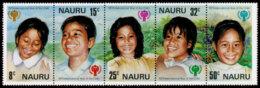 Nauru, 1979, International Year Of The Child, IYC, United Nations, MNH Strip, Michel 198-202 - Nauru