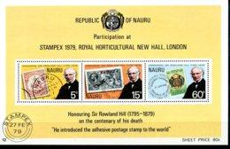 Nauru, 1979, Sir Rowland Hill, UPU, United Nations, MNH, Michel Block 2 - Nauru