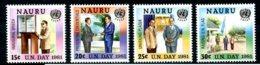 Nauru, 1981, ESCAP, Economic Social Council Asia And Pacific, United Nations, MNH, Michel 229-232 - Nauru