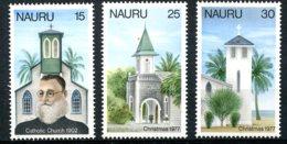 Nauru, 1977, Christmas, Churches, MNH, Michel 153-155 - Nauru