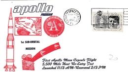 Apollo 25.02.1966 - First Apollo Moon Capsule Flight - Kennedy Space Center - Florida - Event Covers