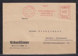 """Dt.Reich Roter Absenderfrei-o """" Berlin SW 11 1.3.41 Reichsmusikkammer 008 """" Auf Vordruck-Ortsbrief - Germania"""