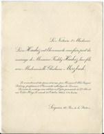 7868 Hainaut Soignies & Bruxelles Ghistaine Merzbach & Freddy Hachez Liutenant Regiment De Grenadiers Lot 2 Invitation - Wedding