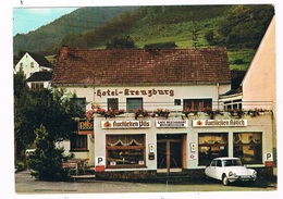 D-9055   KREUZTAL : Cafe-Restaurant - Hotel Kreuzburg ( With Citroën DS ) - Bad Neuenahr-Ahrweiler