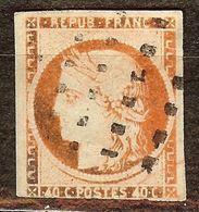 CERES N°5 40c Orange Oxydé Oblitéré GROS POINTS - 1849-1850 Cérès