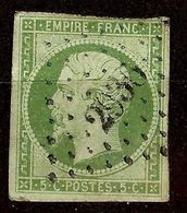 NAPOLEON N°12b 5c Vert Foncé Oblitéré Losange PC 2936 - 1853-1860 Napoleone III
