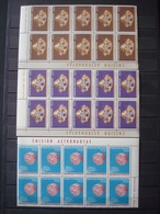 PARAGUAY 1964 2 SETS X 10 MNH** SPACE + OLYMPIC GAMES 1964 / 4 SCANS - Paraguay