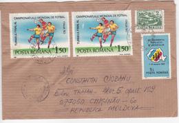 1991 , Roumanie To Moldova , Football , Italie 90 , Used Cover - 1948-.... Republics