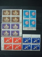 PARAGUAY 1964 2 SETS X 4 MNH** SPACE + OLYMPIC GAMES 1964 / 2 SCANS - Paraguay