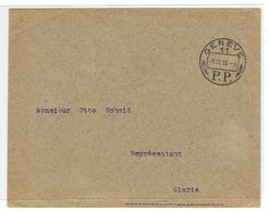 Mooi Document Met Speciale Afstempeling Genève 1918, P.P. - Belgium