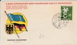 Europa 1958 - FDC Freudenstadt - Aero-philatelisten Club - [7] Federal Republic